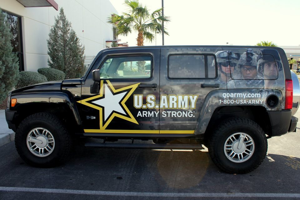 U S  Army H2 Hummer Wrap  H2 Hummer Golf Cart