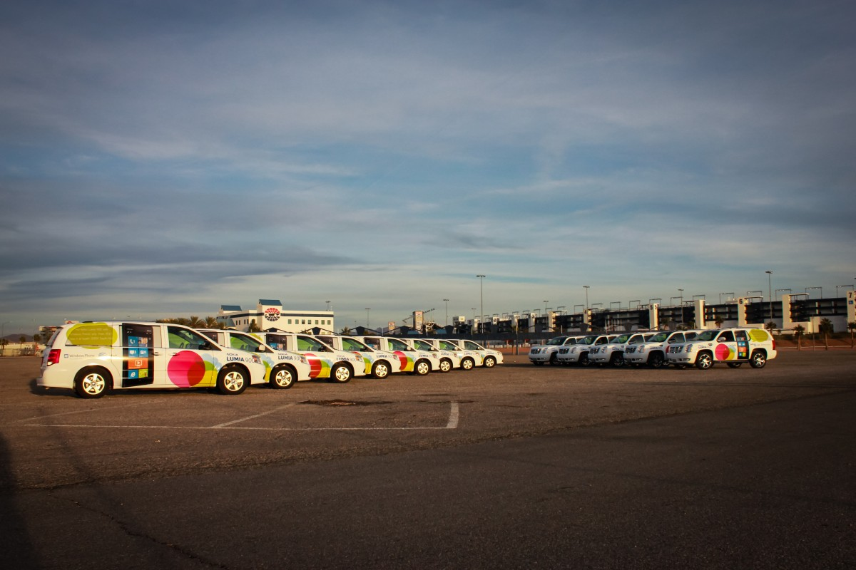 Nokia Car Wrap Fleet for Tradeshow CES by GeckoWraps