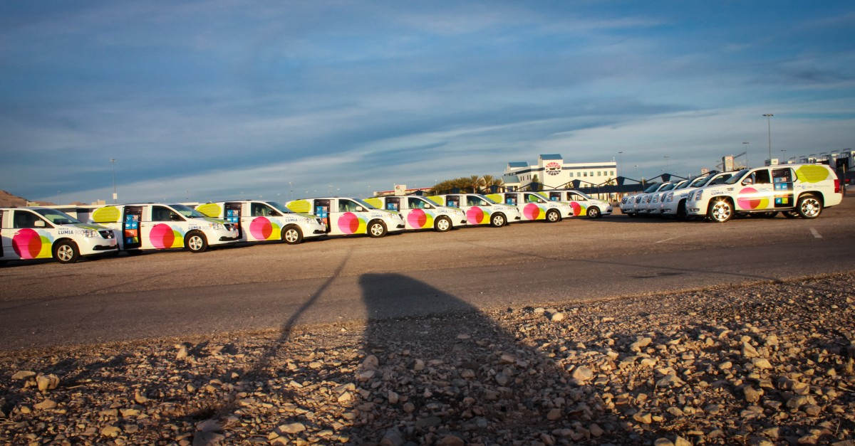Las Vegas CES Vehicle Wrap Rental Fleet