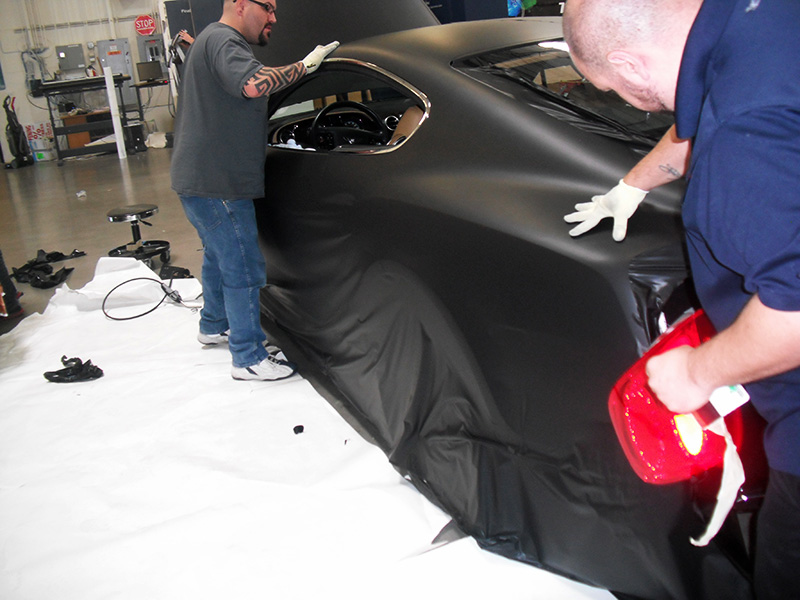 Las Vegas Bentley Car Wraps Carbon Fiber