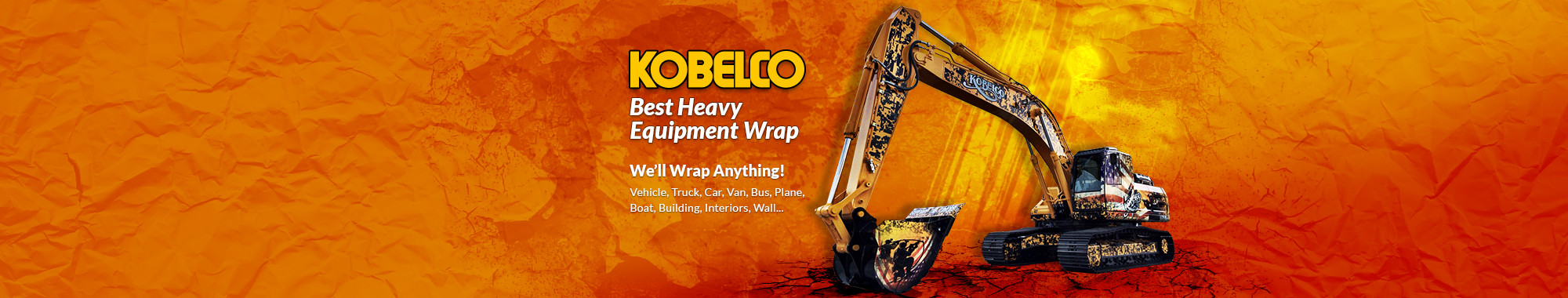 Kobelco - Best Heavy Equipment Wrap in las vegas