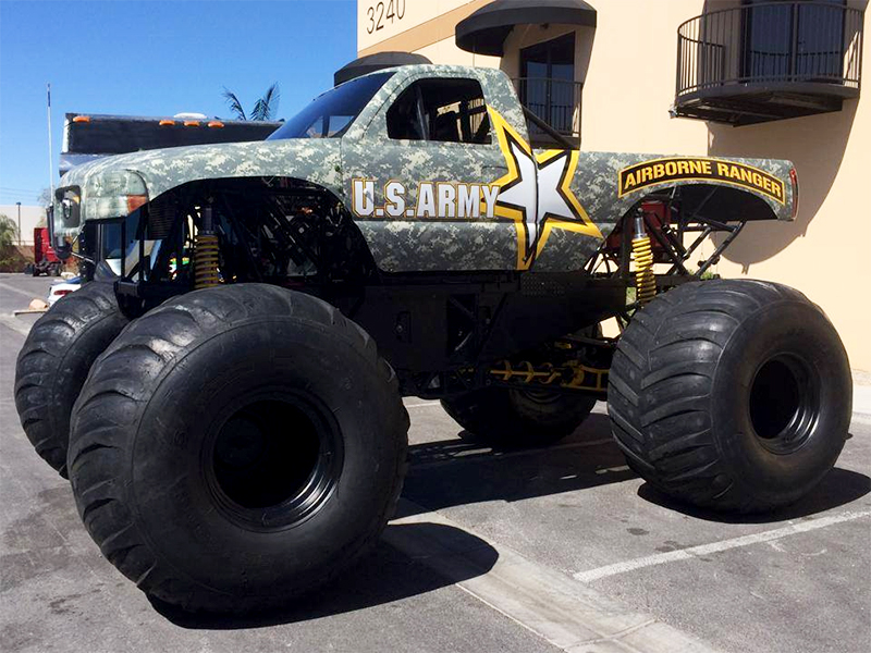 Las Vegas U S Army Big Truck Wrap