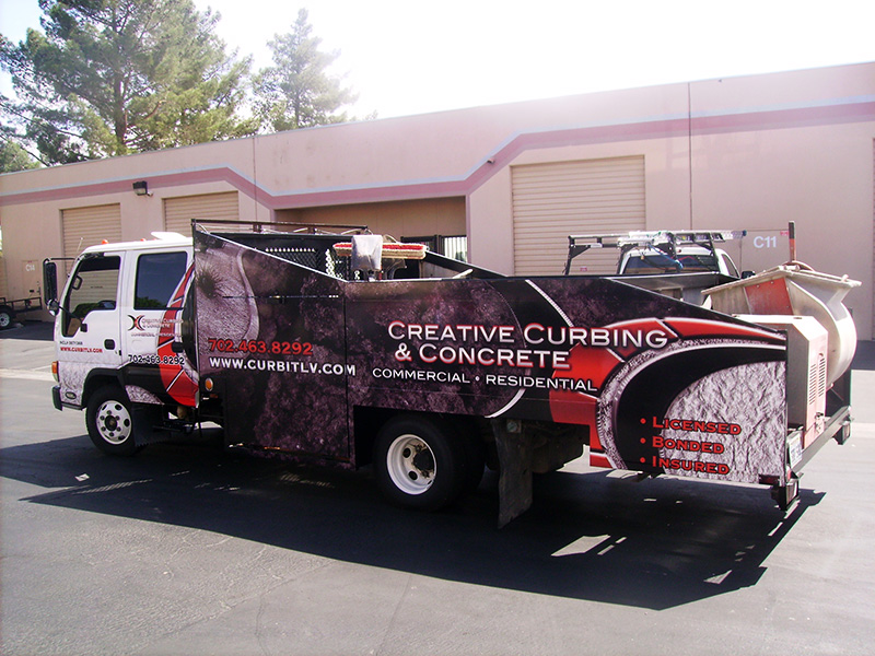 Creative Curbing And Concrete Vehicle Wrap