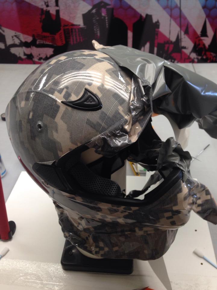Army Helmet Wrap Designed And Installed Geckowraps Las Vegas