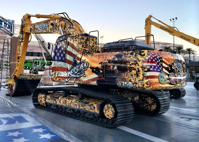 Las Vegas Kobelco Heavy Equipment Wraps