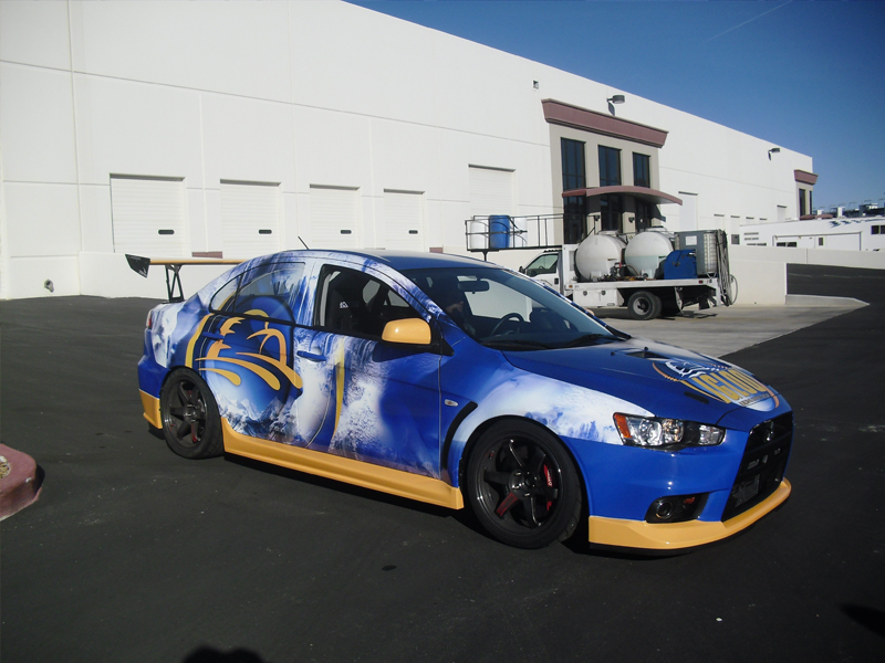 Igloo Racing Car Wrap