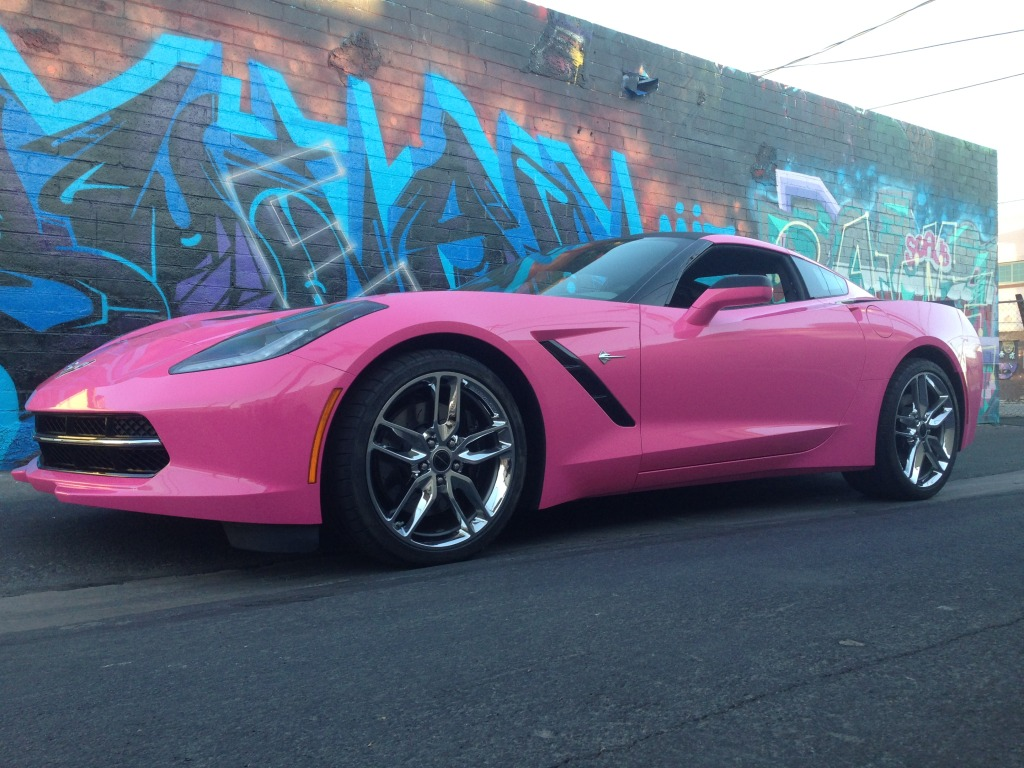 Las Vegas Great Pink Corvette Wrap