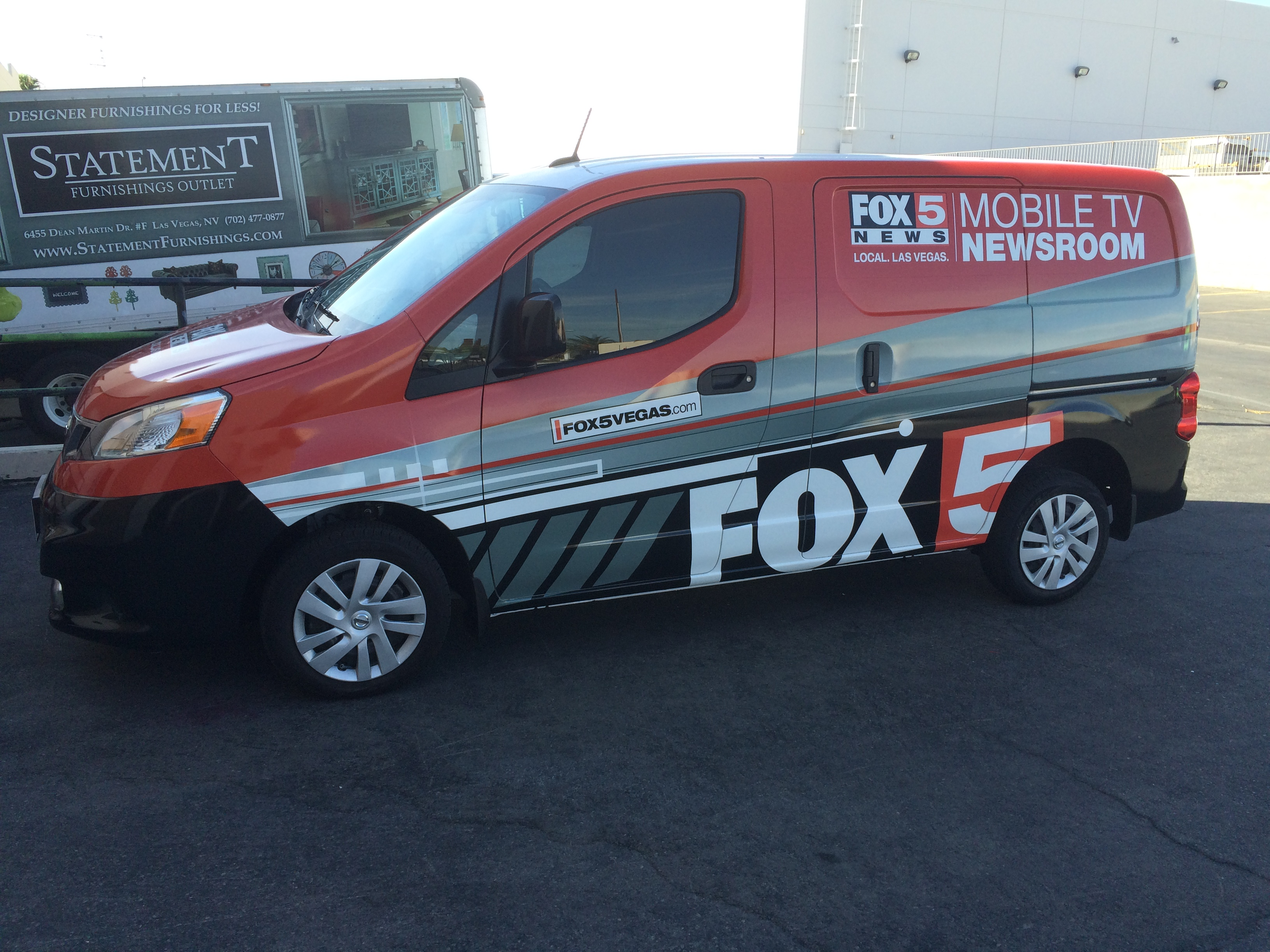 Fox 5 New Las Vegas Van Wrap
