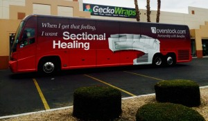 Overstock.com Bus Wrap in Las Vegas