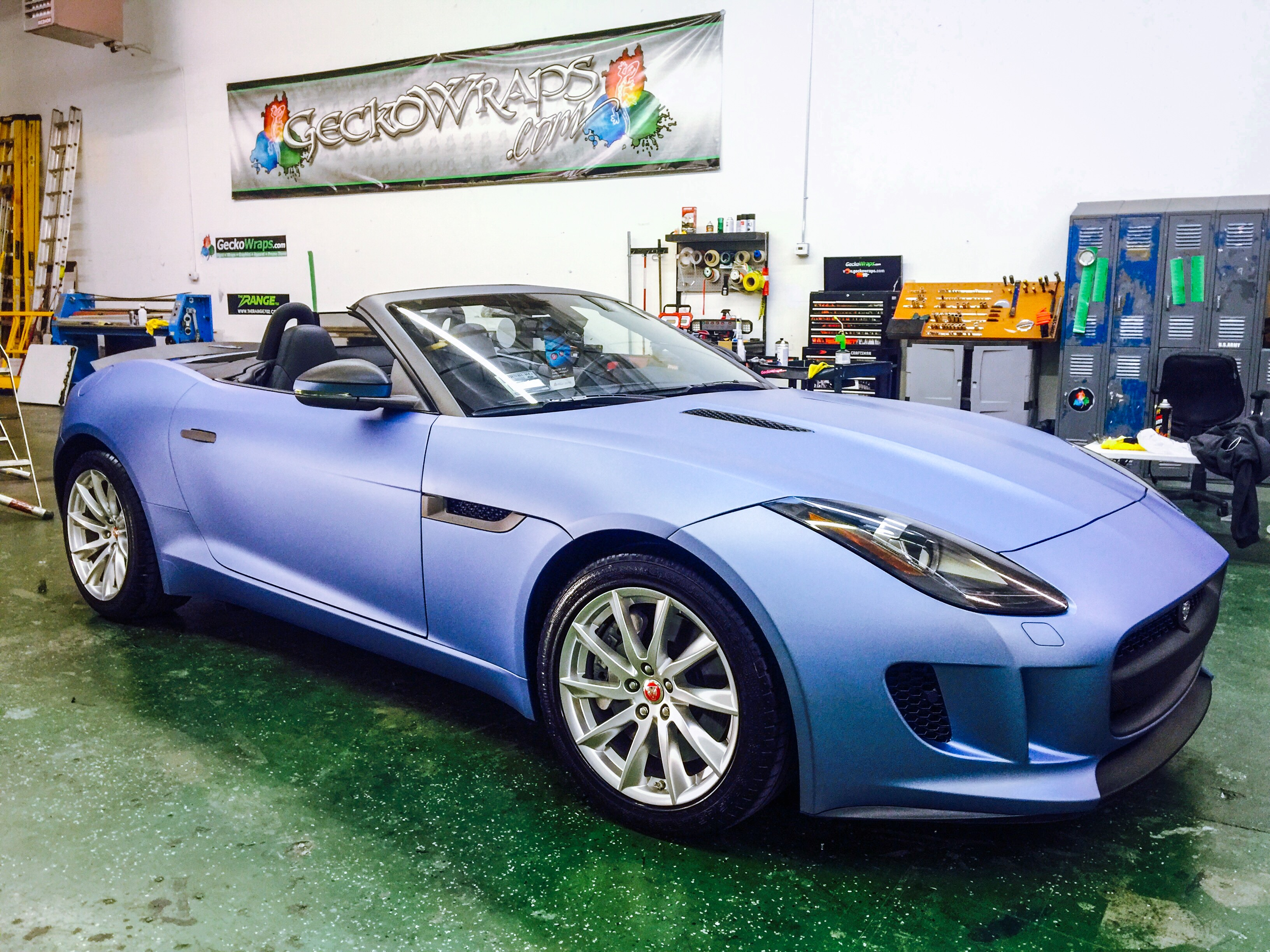 Matte Metallic Powder Blue Jaguar - GeckoWraps Las Vegas ...