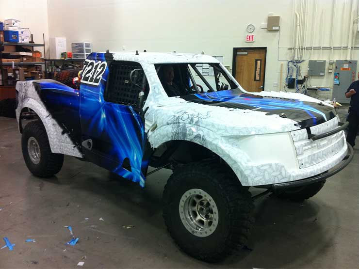 Jeep Las Vegas >> Blue & White Off Road Truck Matte Wrap - GeckoWraps Las Vegas Vehicle Wraps & Graphics
