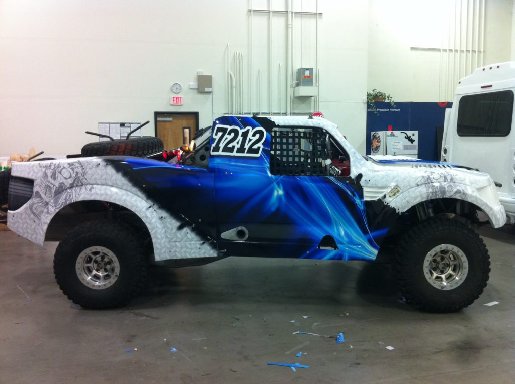 Blue Amp White Off Road Truck Matte Wrap Geckowraps Las