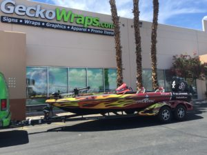 Fire Disc Boat Wrap