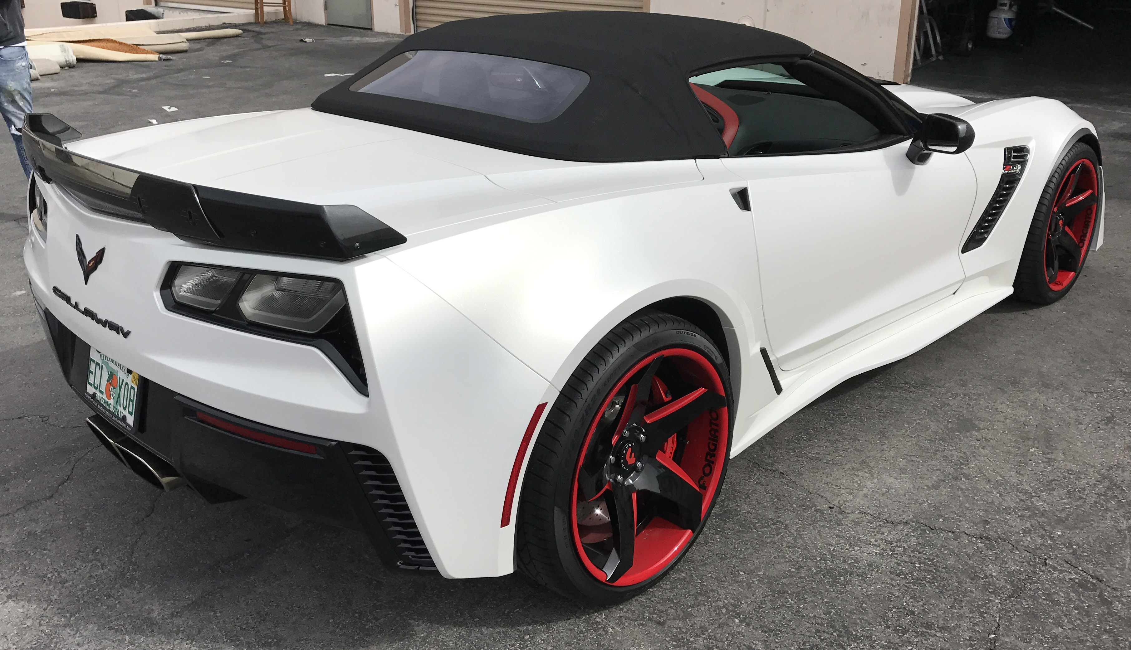 2017 Corvette Stingray Callaway 757 Pearl White Car Wrap